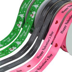 "Quality Custom Thermal Transfer Print Polyester Personalised Grosgrain Ribbon 3"" wholesale"
