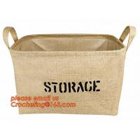 Quality 100% jute storage basket,natural jute material collapsible decorative storage basket,Home handmade jute woven rope toy s wholesale