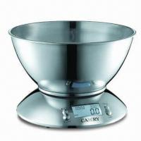 Quality Stainless Steel Electronic Kitchen Scale with Alarm Timer Function wholesale