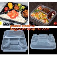 Quality Supermarket display wholesale storage fruit food defrosting plastic tray,manufacturer supply bpa free reusable 3 compart wholesale