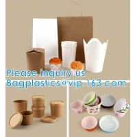Quality Paper Custom Fried Disposable Hamburger Box Cup French Container Fries Kraft Fries Box Cone Shape bag wholesale
