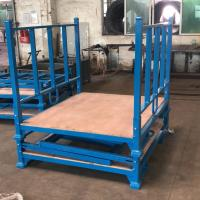 Buy cheap Powder Coating Folding Stacking Pallet Rack With Wooden Sheet 3 Layer from wholesalers