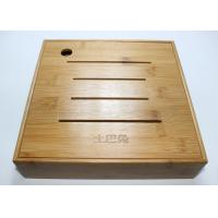 Quality Custom Square Gift Packaging Bamboo Display Box, Wooden Tea Storage Box With 4 Compartments And Lids wholesale