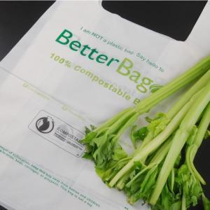 Quality 100%Biodegradable And Compostable T-Shirt Bags/Vest Carrier PE Plastic Bag, Vest Carrier Plastic T-Shirt Shopping Bag wholesale