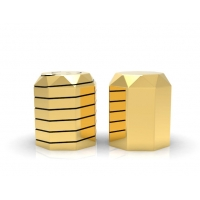 Quality Die Casting Cylindrical Zinc Alloy Perfume Bottle Cover wholesale