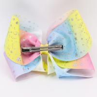 Quality Large Size Hair Bow Ribbon Double Face Type Glitter Color With Clips wholesale