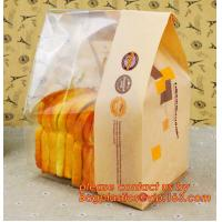Quality Customize Translucent Window Brown Greaseproof Kraft Paper Bag Special Opp Window Shape, window bags, greaseproof paper wholesale