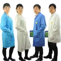 Quality Antistatic Polyester Cotton Cleanroom Esd Jumpsuit Uniform For Electronic Factory wholesale