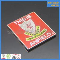 Quality This is Anfield L.F.C. rectangle printing logo gold metal tag wholesale