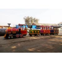 Quality Pollution Free Trackless Train Amusement Ride With Smoke Steam Spray Device wholesale