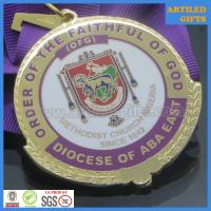 Quality Enamel filled Order of the faithful of God Methodist church Nigeria gold medallion wholesale