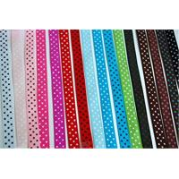 Quality Solid Color Stretch Grosgrain Ribbon Narrow Woven Technics For Gift Wrapping wholesale