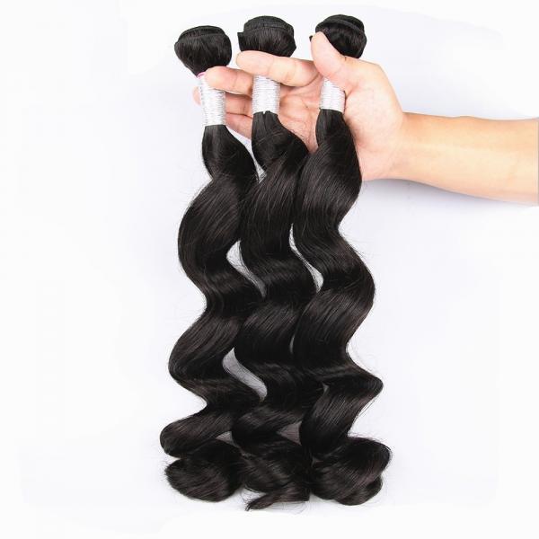 Cheap Unprocessed Virgin Human Hair Bundles Loose Deep Wave Human Hair Weave For Black Woman for sale