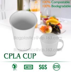 Quality Blister molding biodegradable durable using coffe cup, cpla cup of blister molding, corn starch tea cup wholesale