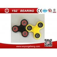 Quality Black / Yellow Hand Spinner Fidget Toy / Tri Spinner With 608 Bearings wholesale