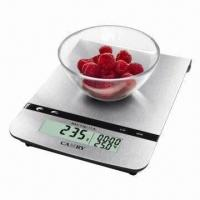 Quality Electronic Kitchen Scale with Stainless Steel Platform and Alarm Timer wholesale