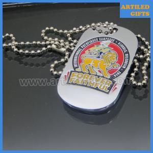 Quality Shiny silver forever faithful Pathfinder dog tag with soft enamel custom logo wholesale