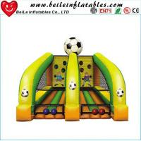 Quality kids Football throwing games air soccer goal inflatable football goal wholesale