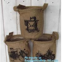 """Quality natural jute burlap foldable decorative storage basket,X-Large Well Standing 26"""" Toy Chest Baskets Storage Bins for Dog wholesale"""