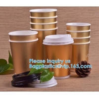 Quality Gold Party Cups, Disposable Coffee Cups With Lids - Insulated Hot Cups To Go - Luxury Glitter Paper Cups wholesale