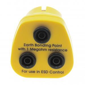 Quality 1M resistor 3X4MM Banana sockets yellow ESD Earth bonding plug wholesale