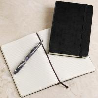 Quality custom leather agenda book with elastic band for gift wholesale