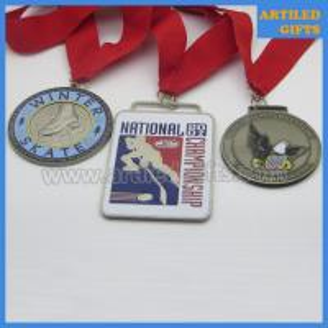 Quality Hard enamel antique imitation Choctaw Oklahoma Novice State Wrestling medal wholesale