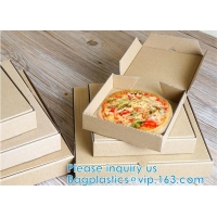 Quality 7inch 9inch 10inch 12inch 16inch Handle Pizza Box Custom Printing For Take-Out CORRUGATED BOARD wholesale