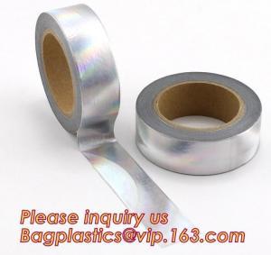Quality foil washi tape holographic foil washi tape,Gold Laser Decorative Reflective Customized Washi Tape,Decorative Adhesive T wholesale