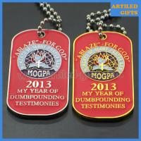 Quality ABLAZE FOR GOD MOGPA dog tag with ball chain in gold and silver color wholesale