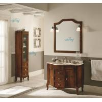 Quality Waterproof Solid Wood Transitional Bathroom Vanities With Left Or Right Side Cabinet wholesale