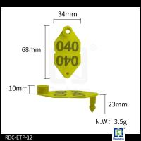 Quality TPU Sheep / Cattle Management Tags , Animal Identification Ear Tags ETP12 wholesale