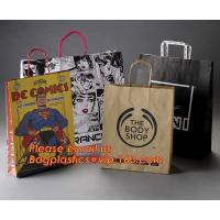 Quality Luxury matte black shopping paper bag with logo UV for clothing packaging wholesale