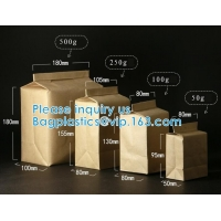 Quality Kraft Paper Side Gusset Bag Open Top Heat Sealing For Snack Cookie Tea Take Out wholesale