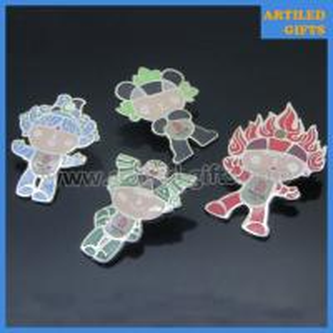 Quality Silver enamel screen printing 2008 Beijing Olympic Games Fuwa mascot lapel pins wholesale