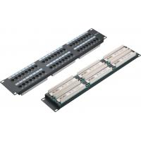 Quality UTP 48 Port Patch Panel 2U AMP Type Cat5e Patch Panels for Computer Center YH4015 wholesale
