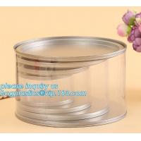Quality PET Jar 85mm neck size food grade clear PET plastic Can screw type with aluminium easy open endsPackaging plastic can 25 wholesale