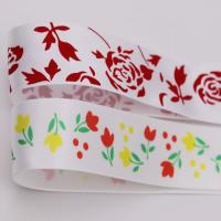Quality Silk Screen Printed Satin Ribbon Customized Size Double Sided Style wholesale