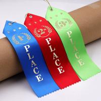 Quality Colorful Rosette Horse Ribbon Polyester / Nylon Material Two Inch Width wholesale