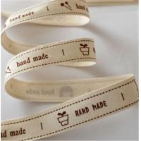 Quality 38MM Width Printed Cotton Ribbon Creamy White Color Single Face Printing wholesale