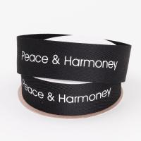 Quality Screen Printed Cotton Grosgrain Ribbon Customized Size For Decoration wholesale
