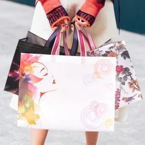 Quality Fashion Logo Printed Laminated Non Woven Carry Bags , Non Woven Shopping Bag wholesale