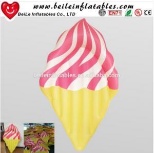 Quality Custom PVC Inflatable ice cream floating mattress wholesale