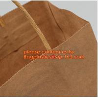 Quality Promotional paper bag in fancy paper and foil logo, Fashion gift paper bag with ribbon handle, Special handle design pap wholesale