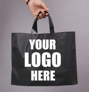Quality Compostable bio eco Merchandise Bag With Die Cut Handles Tear Resistant Strength | Perfect For Trade Shows, Retail wholesale