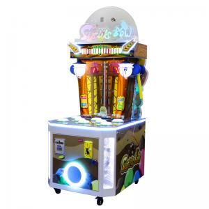 Quality Two Players Kids Arcade Machine / Metal Cabinet Whack A Mole Arcade Machine wholesale