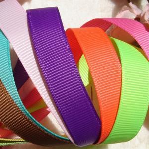 Quality Fancy Polyester Grosgrain Ribbon , Grade Four Solid Color Grosgrain Ribbon wholesale