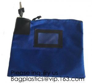 Quality Locking Security Money Bag, Cash Bag,Bank Bag Canvas Keyed Security,Money Bag with Key Lock Keyed Security, security bag wholesale