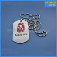 Quality Beijing 2008 Olympic Games sports souvenir dog tag at cheap price wholesale