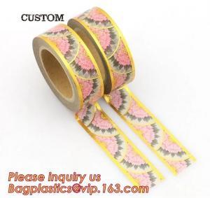 Quality foil tape custom printed decorative washi foil tape,Assorted Designs Christmas Washi Masking Tape,Logo Printed Gold Foil wholesale
